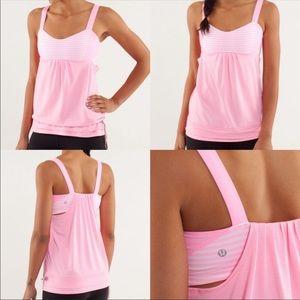 Lululemon Run Back On Track Tank Top Pink Size 6